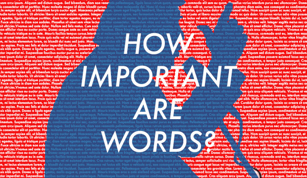 Are Words Important?