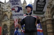 Brexit party spikes while support for Conservatives slides