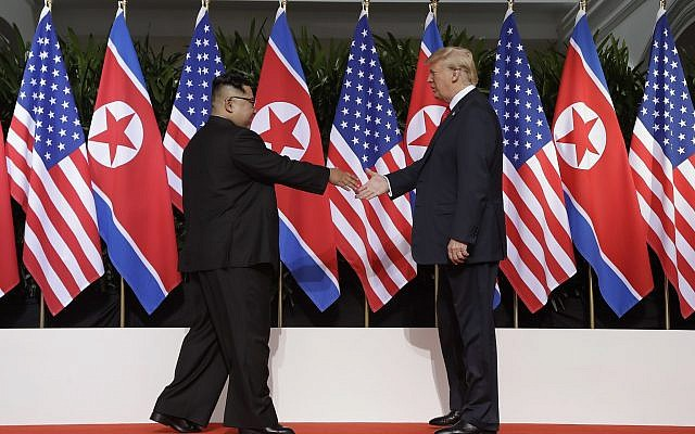Trump and Kim in Historic Handshake